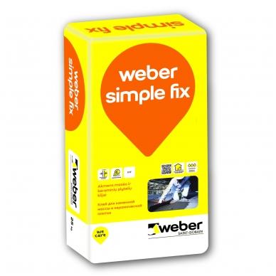 weber SIMPLE FIX Plytelių klijai keraminėms ir akmens masės plytelėms 25 kg