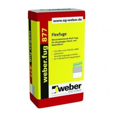 weber.fug 877  Plastiškas glaistas plytelių tarpams 15 kg popierinis maišas