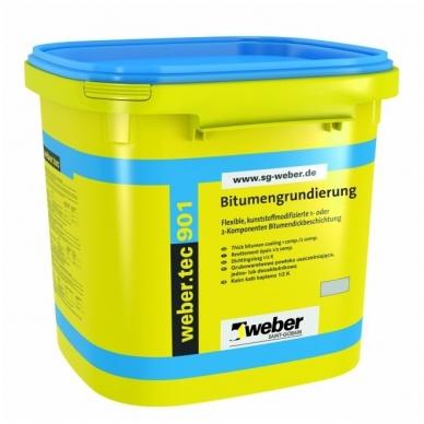 weber.tec 901 Bituminė emulsija pamatų hidroizoliavimui, gruntavimui  5 litrų plastikinės talpyklos